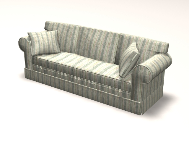 Contemporary settee couch 3d rendering