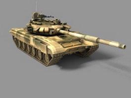 WW2 battle tank 3d model preview