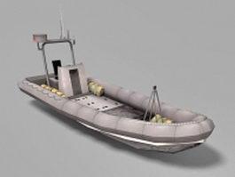 Military patrol boat 3d model preview