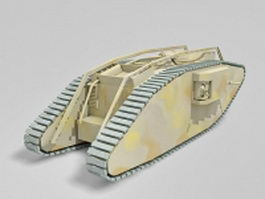 WW1 Female tank 3d preview