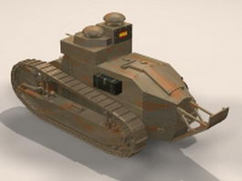 Renault FT-17 tank 3d preview