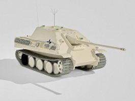 Jagdpanzer German tank 3d model preview
