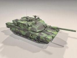 M1A2 tank 3d model preview