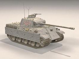 Panzer V German medium tank 3d model preview