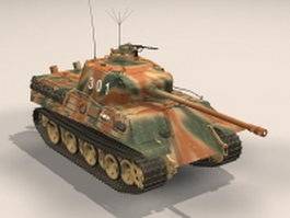 Nazi Germany Panther tank 3d model preview