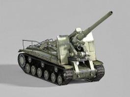 Self-propelled artillery 3d model preview