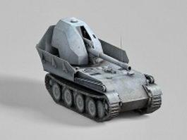 Anti-Tank assault gun vehicle 3d preview
