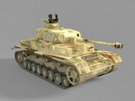 WW2 German tiger tank 3d model preview