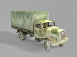WW2 military truck 3d preview