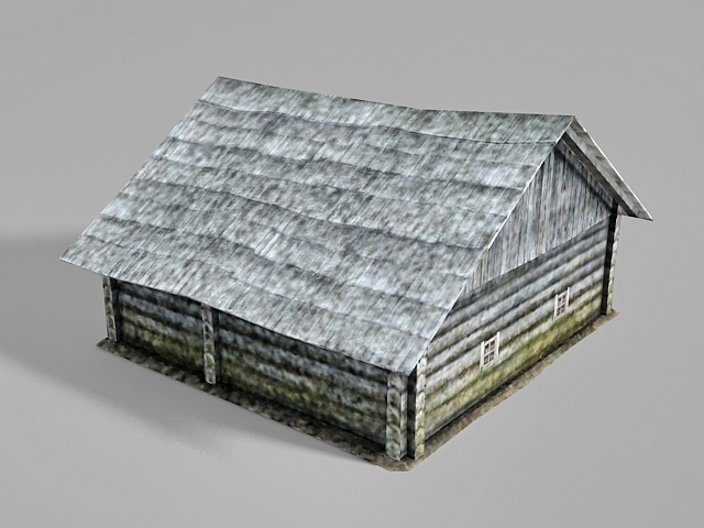 Old country farmhouse 3d rendering