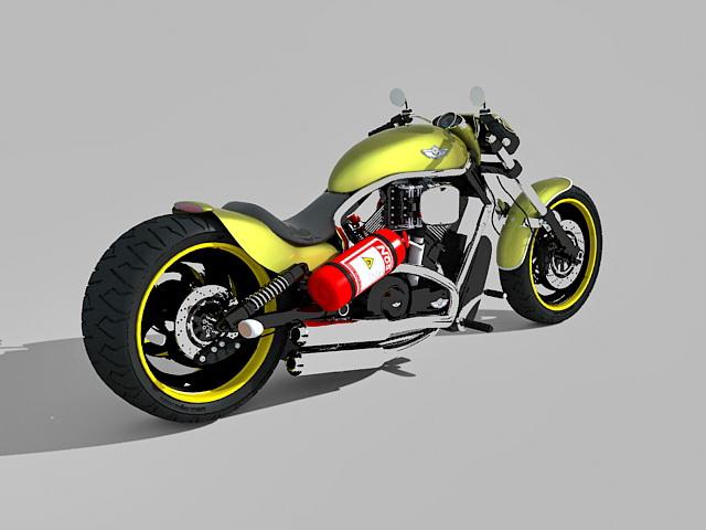 Harley-Davidson motorcycle 3d rendering