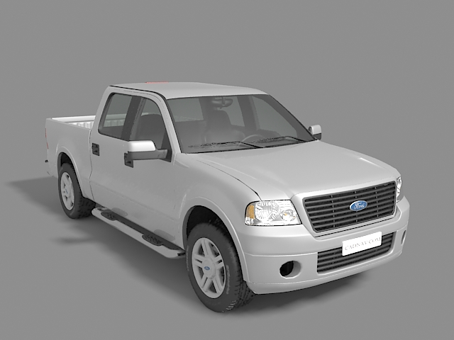 Ford F-150 pickup truck 3d rendering