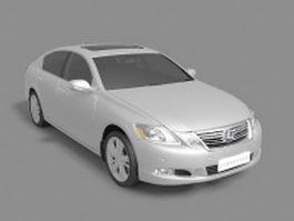 Lexus GS executive car 3d model preview