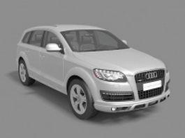 Audi Q7 SUV 3d model preview