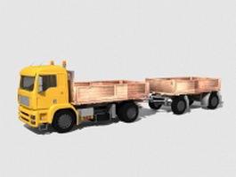 Dump Truck Trailer 3d preview