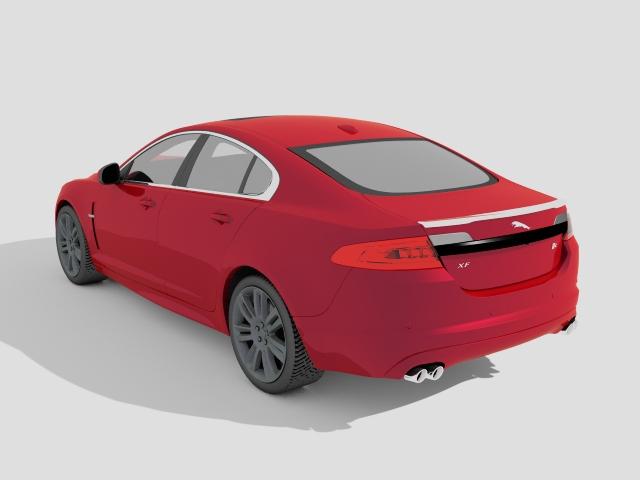 2010 Jaguar XFR 3d rendering