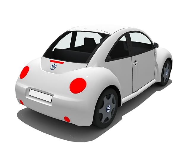 Volkswagen Beetle 3d rendering
