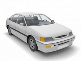 Ford Escort sedan 3d model preview
