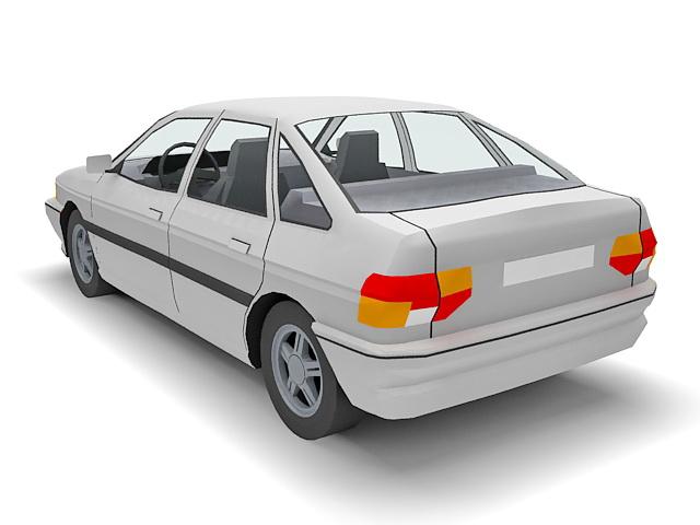 Ford Escort sedan 3d rendering