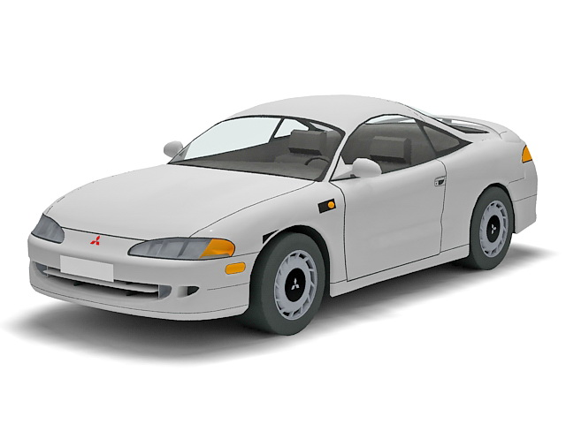 Mitsubishi Eclipse sport car 3d rendering