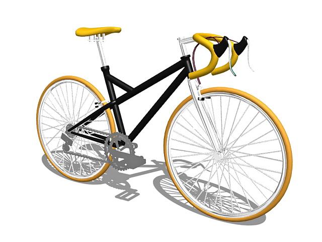 Race bike 3d rendering