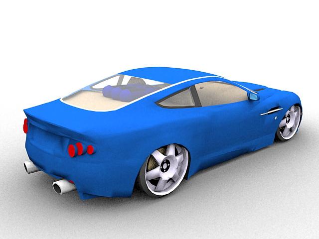 Aston Martin DB7 Zagato 3d rendering