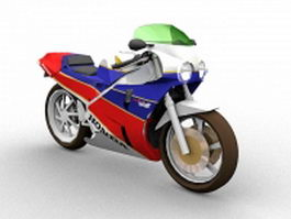 Honda VFR sport touring motorcycle 3d preview