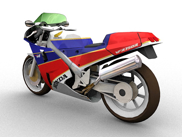 Honda VFR sport touring motorcycle 3d rendering