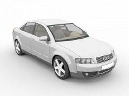 Audi A4 executive car 3d model preview