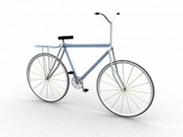 Antique bicycle 3d model preview