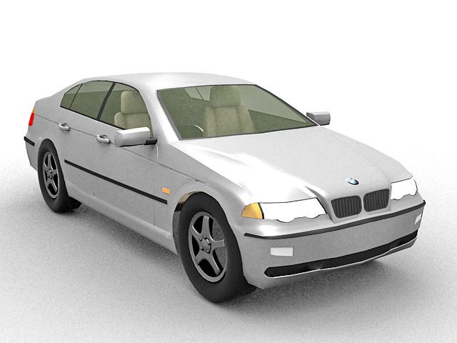 BMW 3 E90 executive car 3d rendering