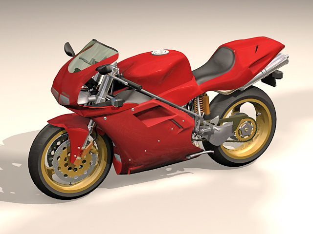 Ducati 916 sport bike 3d rendering