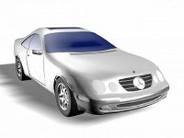 Mercedes sports car 3d model preview