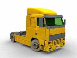 Volvo truck tractor 3d preview