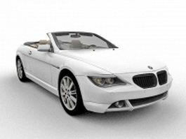 BMW 645Ci Convertible 3d model preview