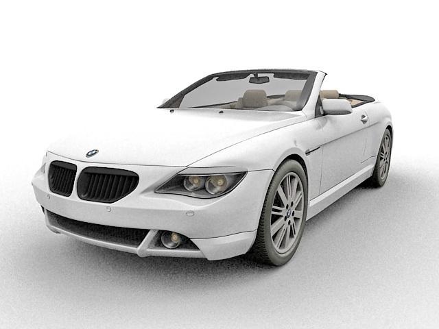 BMW 645Ci Convertible 3d rendering