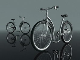 Modern bicycle 3d preview