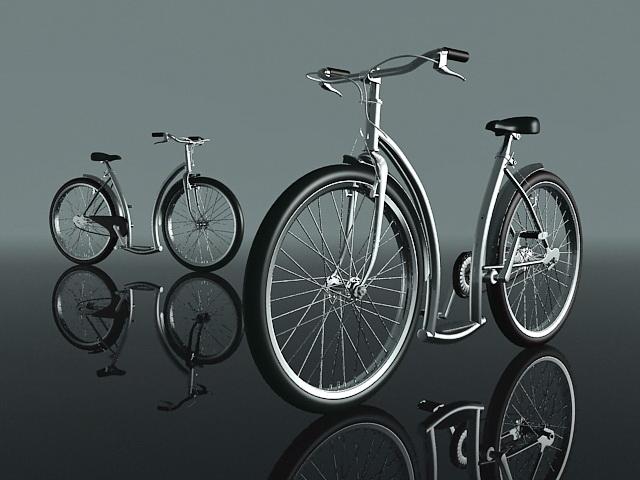 Modern bicycle 3d rendering