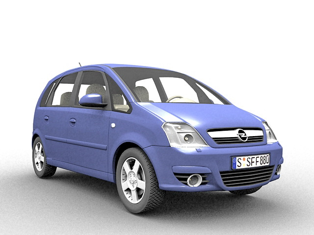 Opel Meriva MPV 3d rendering