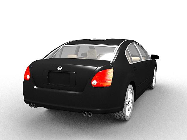 Nissan Maxima car 3d rendering