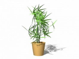 Potted artificial plant 3d preview