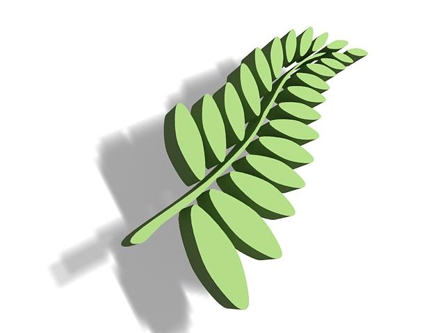 Leaf arrangement 3d rendering