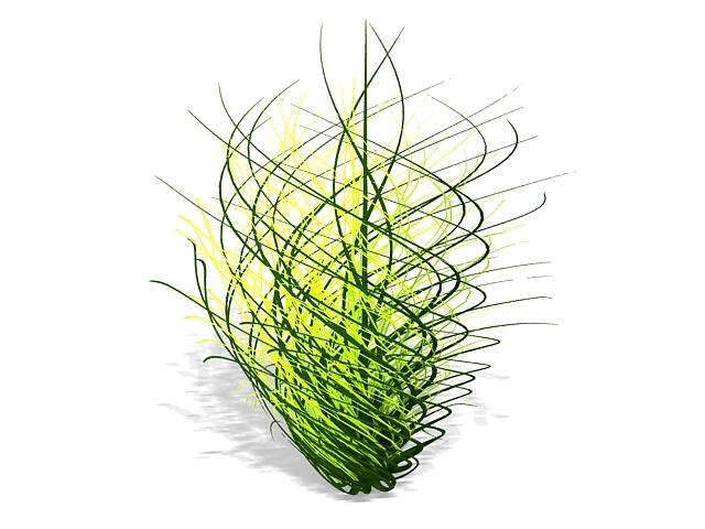 Grass topiary 3d rendering