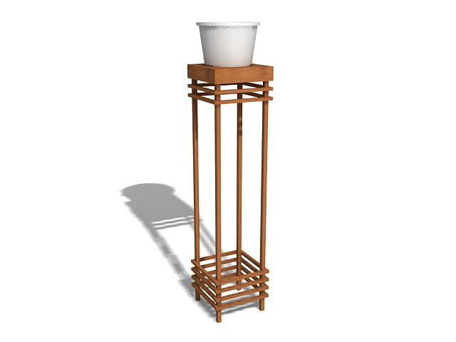 Flower pot stand 3d rendering