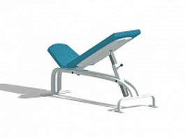 Adjustable AB bench 3d preview