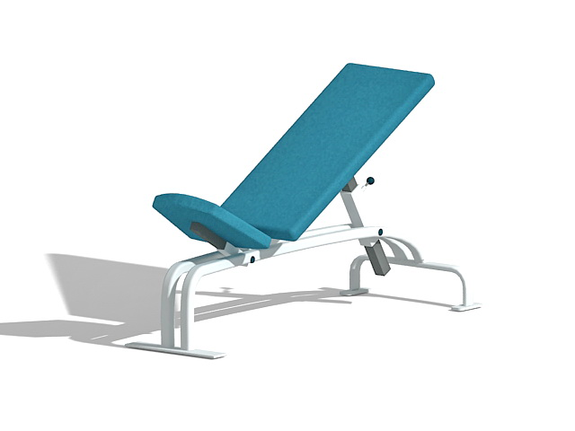 Adjustable AB bench 3d rendering