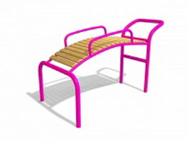 Public playground equipment 3d model preview