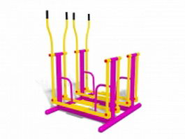 Outdoor exercise equipment 3d model preview