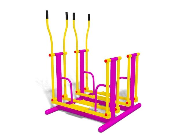 Outdoor exercise equipment 3d rendering