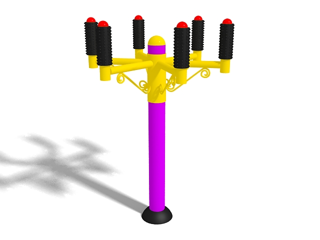 Outdoor exercise equipment 3d rendering